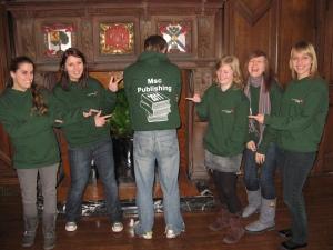 MSc students in hoodies