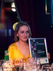 Proud winner, Pamela Morris
