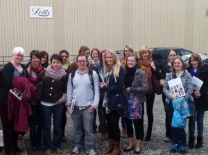 Edinburgh Napier University Publishing students printers visit