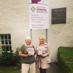 Lindsay Flannigan meeting Susie Hamilton from Scottish Veterans Residencies
