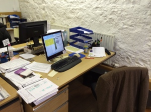 My Desk at Alban Books