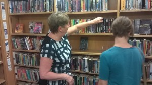 WHEC School Librarian Anne Brownlee giving us valuable insights into teen fiction preferences.