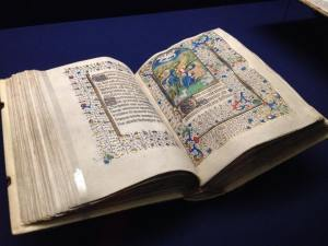 One of the beautiful incunable on display at the museum