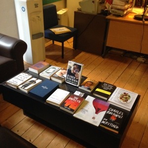 A selection of Canongate's latest titles on display.