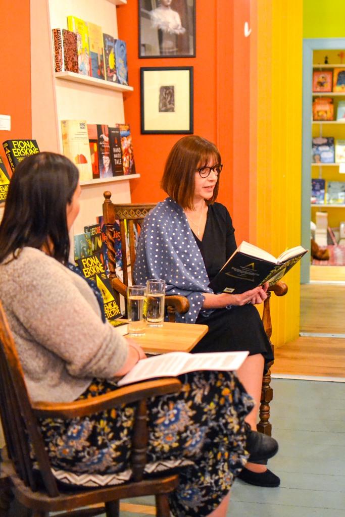 Katalina Watt chairing Fiona Erskine's launch The Chemical Detective
