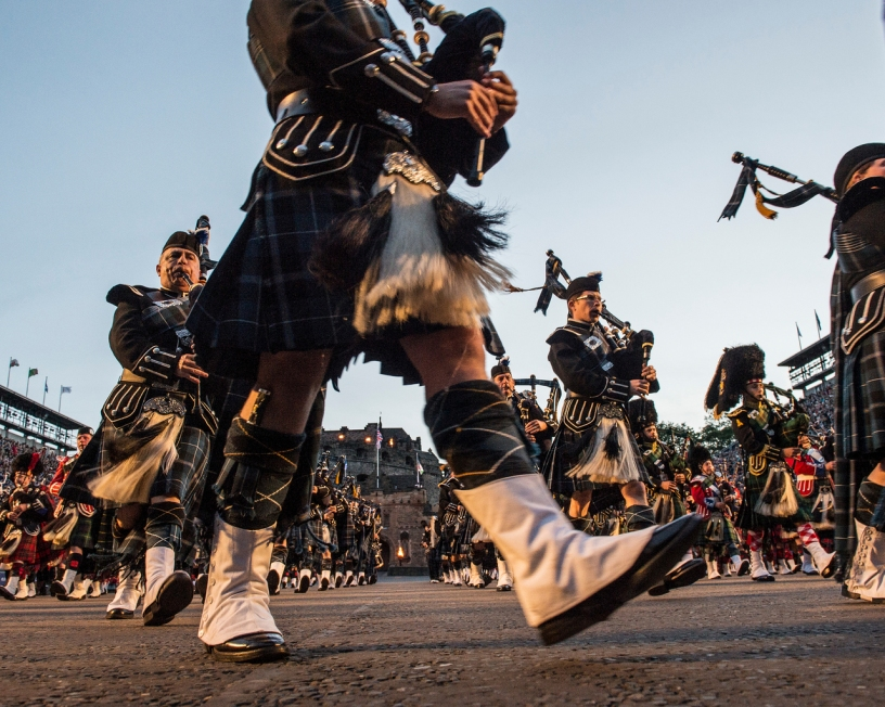 World famous Edinburgh Military Tattoo at Edinburgh castle