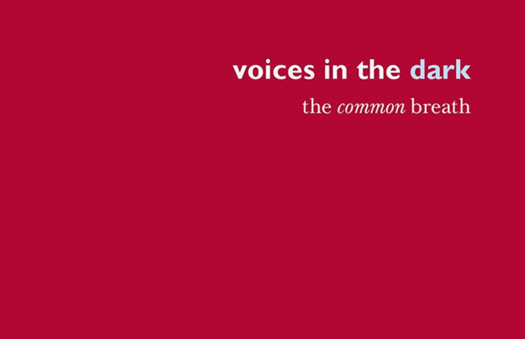 [Image Description: Voices in the Dark title on red background.]