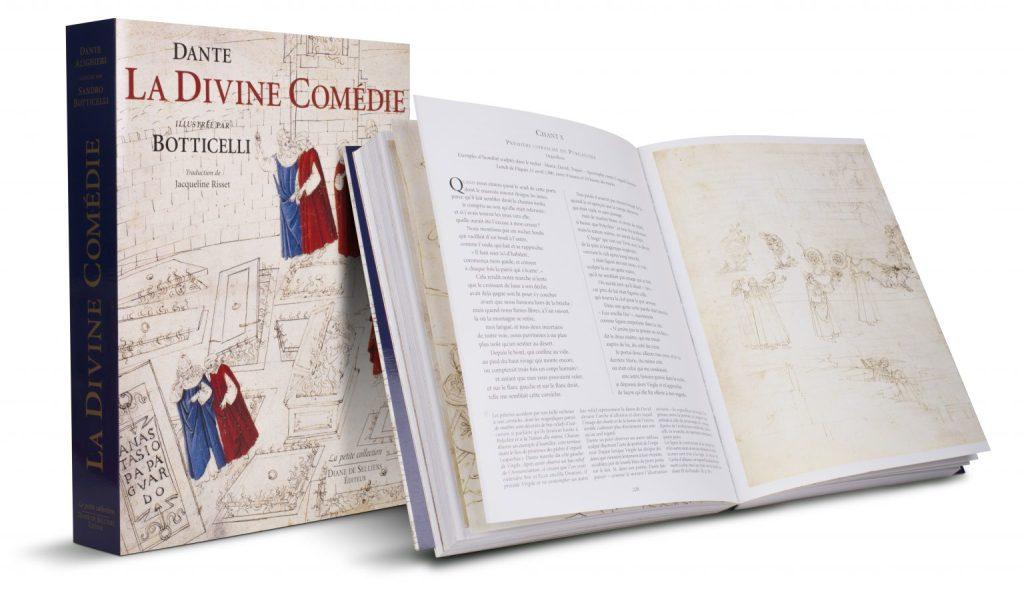 La Divine Comédie de Dante illustrée par Botticelli, Éditions Diane de Selliers This is an image of the book published by Diane de Selliers in 1996, The Divine Comedy illustrated by Botticelli